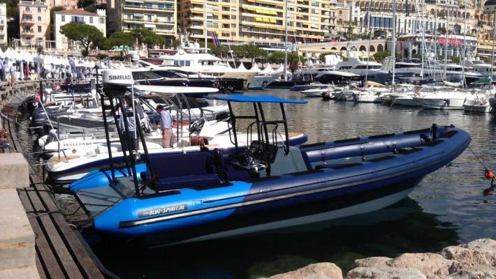 Blue Spirit exhibiting at Monaco Yacht Show