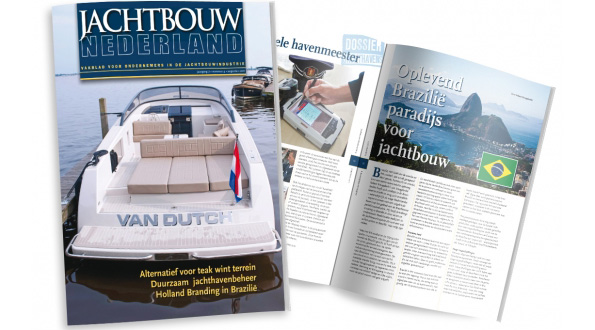 Blue Spirit in magazine Jachtbouw Nederland