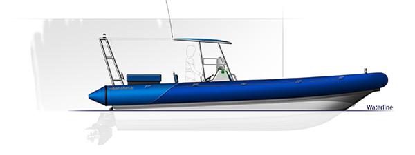Blue Spirit rib boat Patrol 8m20