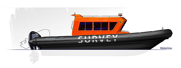 Blue Spirit rib boat Patrol 9m20