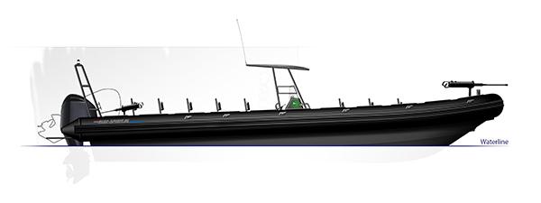 Blue Spirit rib boat Patrol 11m20